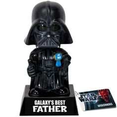 So maybe Dad HAS cut your hand off with a lightsaber, but in the long run of things, he's a great guy! Show him your appreciation with our Galaxy's Best Father Darth Vader Bobble Head so he can show it off to his minions.    The force is strong with this one.