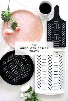 DIY Mudcloth Design Trays | @DrawntoDIY