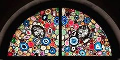 Agate stained glass window by Sigmar Polke at Grossmünster cathedral, Zürich Modern Stained Glass, Stained Glass Designs, Stained Glass Art, Stained Glass Windows, Mosaic Glass, Mosaic Windows, Leaded Glass, Giacometti, Church Windows