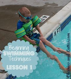 Beginner Swimming Techniques: Lesson 1 - part of an excellent series on water safety and teaching babies and young children to swim