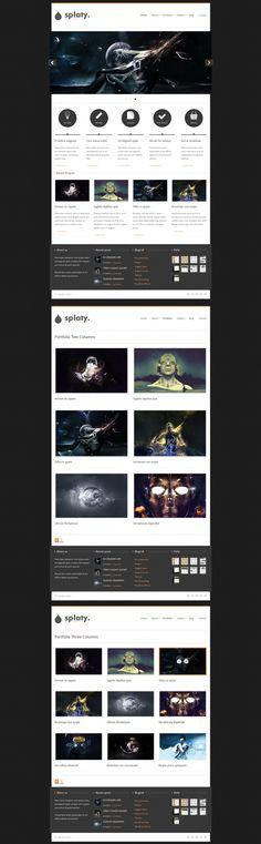 Splaty  |  Responsive, Creative, Wordpress Template  |  themeforest  |  http://themes.designeta.com/splaty/