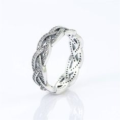 Authentic 925 Sterling Silver Ring Clear от SilverCharmsBracelet