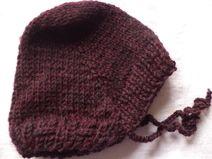 Babymütze Schurwolle 31-34cm Mütze Wolle gestrickt