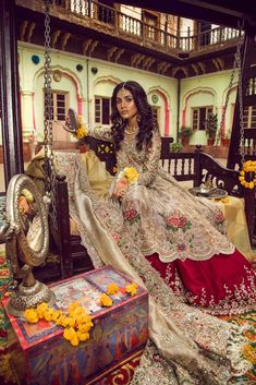 Buy Pakistani Designer Bridal Dress - Pakistani Lehenga Dress - Pakistani Wedding Clothes - Pakistani Wedding Wear Online at Nameera by Farooq Visit Now: www.NameerabyFarooq.com Call or Whatsapp ; +1 732-910-5427