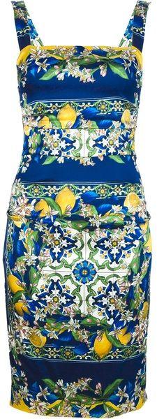 Dolce & Gabbana Yellow Mosaic and Lemon Print Dress Lemon Print Dress, Vip Fashion Australia, Designer Cocktail Dress, Spring Tops, Spring Summer, Cute Summer Dresses, Fashion Looks, Fashion Design, Fashion Ideas