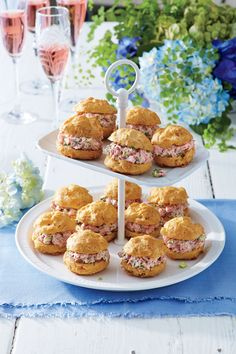 Cheese Puffs with Ham Salad Recipe
