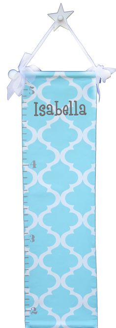 growth chart for kids hand painted trellis by AveQcollection