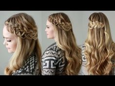 Criss-Cross Looped Braid | Missy Sue - YouTubeBraid Hairstyles, Braids, braids tutorial, braids for short hair, braids for short hair tutorial, braids for long hair, braids for long hair tutorials... Check more at http://app.cerkos.com/pin/criss-cross-looped-braid-missy-sue-youtube/