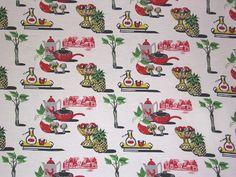 Vintage kitchen fabric