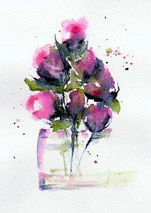 From My Garden Painting by Anne Duke - From My Garden Fine Art Prints and Posters for Sale Watercolor And Ink, Watercolor Flowers, Watercolor Paintings, Watercolors, Flower Paintings, Garden Painting, Flower Art, Art Drawings, Fine Art Prints