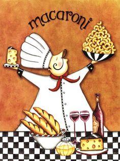 Chef Pictures, Kitchen Pictures, Fat Chef Kitchen Decor, Images Vintage, Printed Napkins, Popsicle Stick Crafts, Decoupage Vintage, Le Chef, Kitchen Wall Art