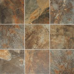 "Slate look porcelain flooring. Krystal Slate SO Floor or Wall Porcelain Tile 12"" x 12"" (15 sq.ft/pkg)"