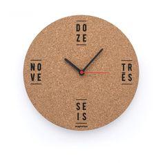 Relógio com cortiça