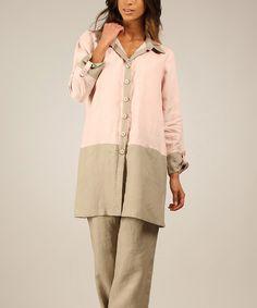 5a200429ba9 Look at this Light Pink   Mole Nanette Linen Top by Eva Tralala