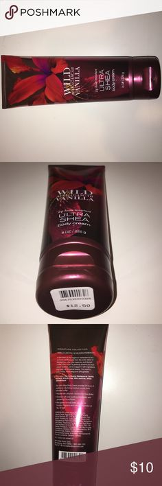 LAST MINUTE GIFT BATH AND BODY WORKS GIANT LOTION incredible 24 hour moisture ultra Shea body cream in the scent wild Madagascar vanilla - Perfect gift for the holidays!  if you order soon, I can even wrap it for you at no additional cost and ship it quickly!  Also, if you are interested but like different scents, let me know because I have some good ones that aren't on poshmark yet. please make offers, ask questions, and bundle to save more! 💜💜 (nickel is shown in last picture for size…