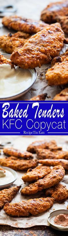 "KFC Copycat Oven ""Fried"" Chicken Tenders 