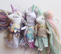 Liberty Lavender Dolls little unicorns ✈️
