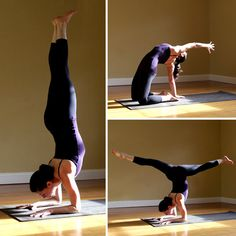Poses to help you get into a forearm stand. Something I've been trying (and not getting) for quite some time now...