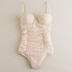 tulle swimsuit in white $125