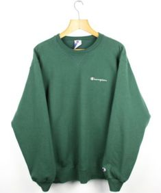 d3d13003e FOR SALE: Vintage CHAMPION USA Green Sweatshirt Jumper | Retro Wavey Sport  | XL