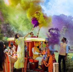 Colourful smoke bombs 🌈