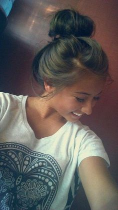 messy bun! love it!!