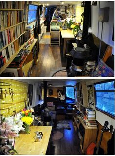 Narrowboat KISMET is a very recently (end of refurbished, high-spec, luxurious, comfy and homely liveaboard boat that blends contemporary stylish decor with traditional canal boat values. Canal Barge, Canal Boat, Small Space Living, Living Spaces, Rv Living, Living Rooms, Small Spaces, Liveaboard Boats, Narrowboat Interiors