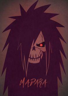 """Naruto Shippuden Character Skulls Madara Uchiha artwork by artist """"Mauricio Somoza"""". Anime Naruto, Naruto Shippudden, Naruto Fan Art, Itachi, Manga Anime, Gaara, Orochimaru Wallpapers, Madara Wallpaper, Wallpaper Naruto Shippuden"""