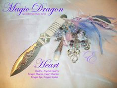 Heart Magick Dragon Athame - Opalite Embellished by Eliora http://etsy.me/2k5s2cC @etsy