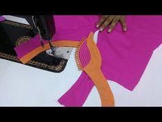 Unique Neck Design for Kurti//latest beautiful neck design ! Chudi Neck Designs, Neck Designs For Suits, Blouse Neck Designs, Sleeve Designs, Salwar Designs, Kurti Neck Designs, Gala Design, Salwar Pattern, Blouse Models