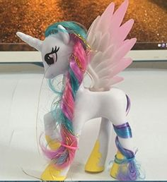 Princess celestia 5.5 inch plastic figure Translucent wings... Princess Celestia, Unicorn Party, My Little Pony, Wings, Presents, White Food, Cyber Monday, Toys, Disney Characters