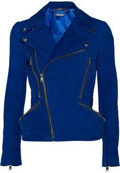 Alexander McQueen Nubuck biker jacket