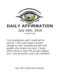 Daily Powerfull affirmations for self help say this daily to change your habits and small habits can change your outcome you'll be unstoppable Positive Thoughts, Positive Vibes, Positive Quotes, The Words, Me Quotes, Motivational Quotes, Inspirational Quotes, Sucess Quotes, Mantra