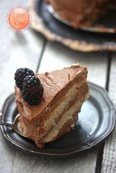 Love Raw: Nut free Chocolate & Vanilla layered Cake, and a new furry family member ♥ Raw Dessert Recipes, Healthy Vegan Desserts, Raw Desserts, Raw Vegan Recipes, Vegan Sweets, Healthy Baking, Dessert Healthy, Healthier Desserts, Healthy Food