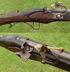 A replica 17th century matchlock musket owned for twenty years by a veteran member of the Sealed Knot, an English Civil War re-enactment group