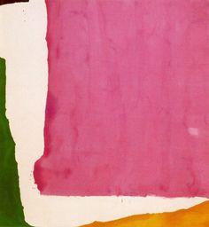 magenta, pine green, tangerine orange, Mauve District, 1966 by Helen Frankenthaler