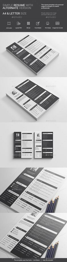 Simple Creative Resume Template PSD. Download here: http://graphicriver.net/item/simple-creative-resume/15872678?ref=ksioks