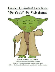 Fern's Freebie Friday ~ Go Yoda! Harder Equivalent Fractions Go Fish Card Game! #FREE #TPT #TeachersFollowTeachers #FernSmithsClassroomIdeas