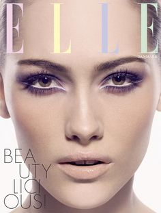 Beauty cover for ELLE magazine by beauty & portrait photographer