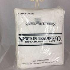 Newton Trading Company XL 46 48 3 Men's V Neck T Shirts Made in Canada #NewtonTradingCompany #VNeck
