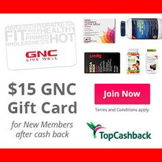 ►► FREE AFTER REBATE - $15 GNC Gift Card - LIMITED TIME! Exp 6/13/15 ►► #CashBack, #FreeAfterRebate, #FREEbate ►► Freebie-Depot