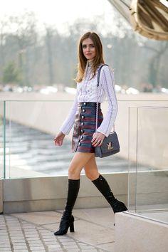 Chiara Ferragni in Louis Vuitton - HarpersBAZAAR.com #fashion #streetstyle #chic