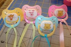 Winnie The Pooh Themed Baby Shower; Baby Shower Game Don't Say Baby: Pacifier necklaces; boys baby s Baby Shower Cakes For Boys, Unique Baby Shower, Baby Shower Favors, Baby Shower Games, Baby Boy Shower, Winnie The Pooh Games, Tigger Winnie The Pooh, Pooh Bear, Dont Say Baby Game