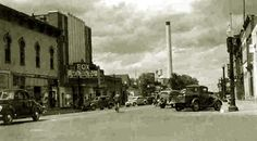 Fox Theater (formerly the Empress) at 2nd Street btw Ivinson and University, looking north. Circa 1940.