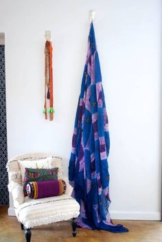Use this stunning tribal fabric to create some African style! Use for curtains, canopies, table clothes, throws on beds, etc. Hand dyed in Mauritania. Available at Maryam Montague's online Souk!