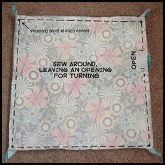 My Fabric Obsession: Self-Binding Blanket