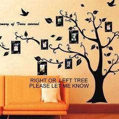 Family Tree Wall Decal Left or Right Facing Art . Starting at $5 on Tophatter.com! sil. also start and go left.