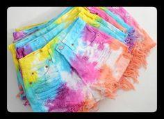 DIY tie-dye shorts http://www.youtube.com/watch?v=D0BCv8WqBSk