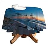 Driftwood Decor Round Polyester Tablecloth,Nature Theme Driftwood on a Lake and The Moon in The Sky Digital Image,Dining Room Kitchen Round Table Tablecloth Blue Apricot - Driftwood 4 Us Sky Digital, Digital Image, Driftwood Kitchen, Room Kitchen, Dining Room, Round Table Covers, Sky Moon, Tablecloths, Product Description
