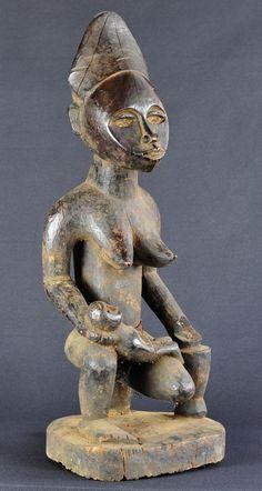 Superbe Maternité Bakongo Yombe Vili Phemba pfemba bayombe Congo statue 55cm | eBay